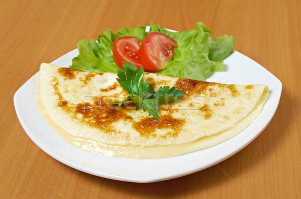 Stok fotoğraf: Sebze · yumurta · peynir · öğle · yemeği · sarı