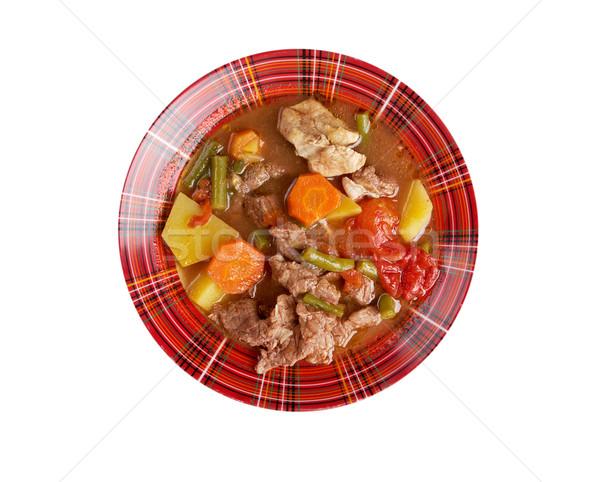 シチュー ウィスコンシン州 皿 肉 新鮮な 食事 ストックフォト © fanfo