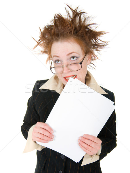 stressed crazy Businesswoman  Stock photo © fanfo
