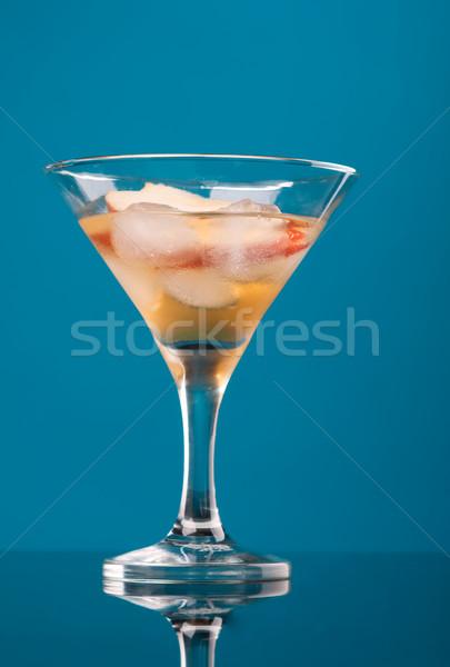 Kozmopolita koktél ital kék szemüveg italok Stock fotó © fanfo