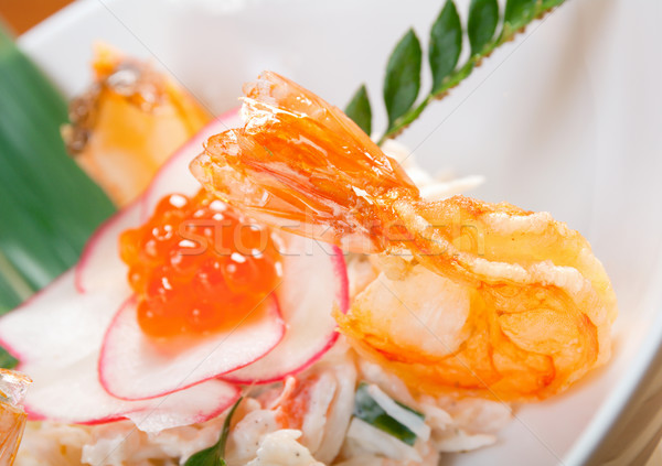 prawns and red roe Stock photo © fanfo