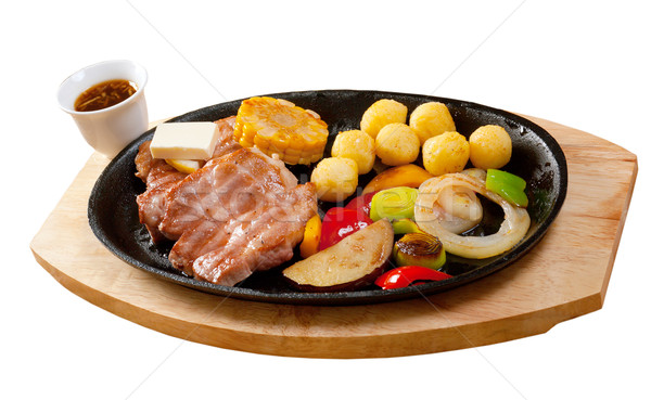 Japanese marbled beef  Roast Stock photo © fanfo