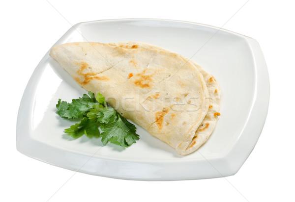 Pita kenyér török étel búza fehér Stock fotó © fanfo