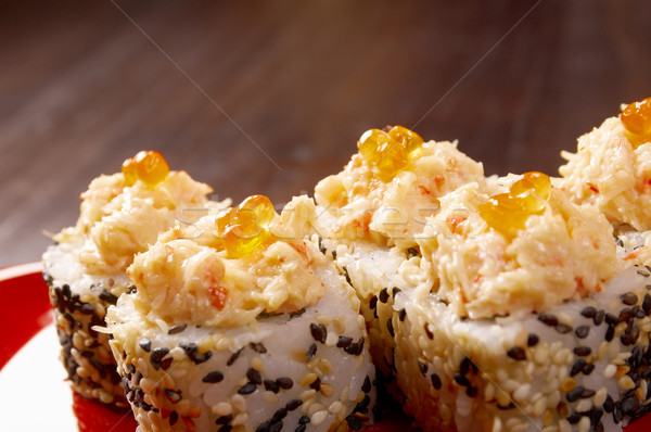 Japanese sushi  traditional japanese food. Stock photo © fanfo