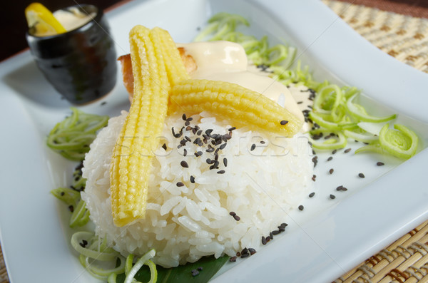 White rice with chunks of vegetables. Stock photo © fanfo