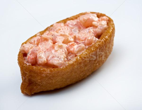 inari sushi with salmon and roe tobiko Stock photo © fanfo