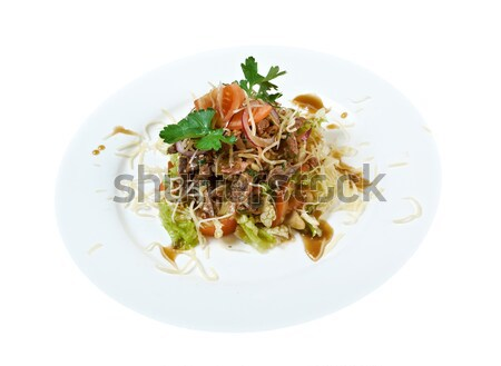 salad with beef liver Stock photo © fanfo