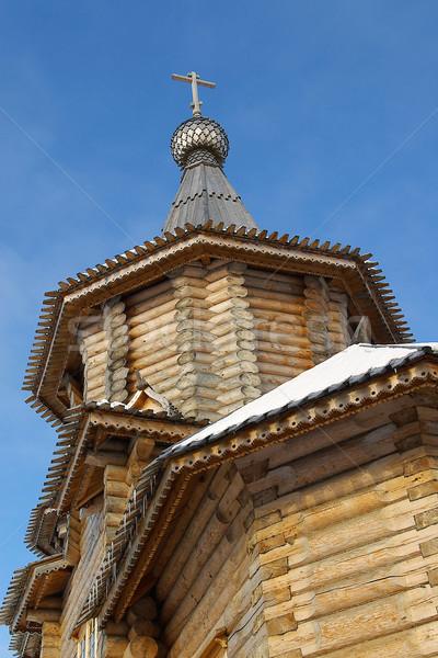 Archangelsk ,wooden church Stock photo © fanfo