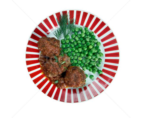 Tradicional prato porcos coração fígado gorduroso Foto stock © fanfo