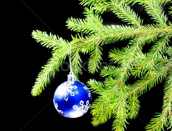 Karácsony csecsebecse fa karácsonyfa díszek művészet Stock fotó © fanfo