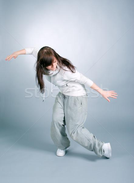 Serin bakıyor dansçı poz uygunluk atlamak Stok fotoğraf © fanfo