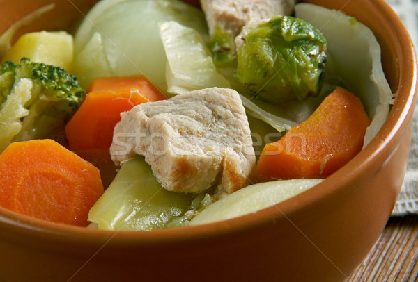 Holandés estofado carne patatas zanahorias cebollas Foto stock © fanfo