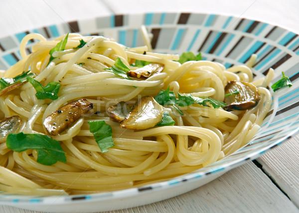Сток-фото: спагетти · чеснока · нефть · итальянский · пасты · блюдо