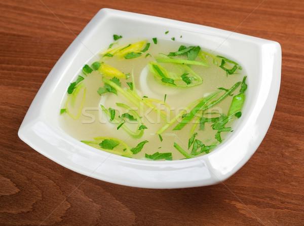 Tavuk yumurta İtalyan gıda salata sebze Stok fotoğraf © fanfo
