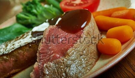 Irish stew with tender lamb meat Stock photo © fanfo