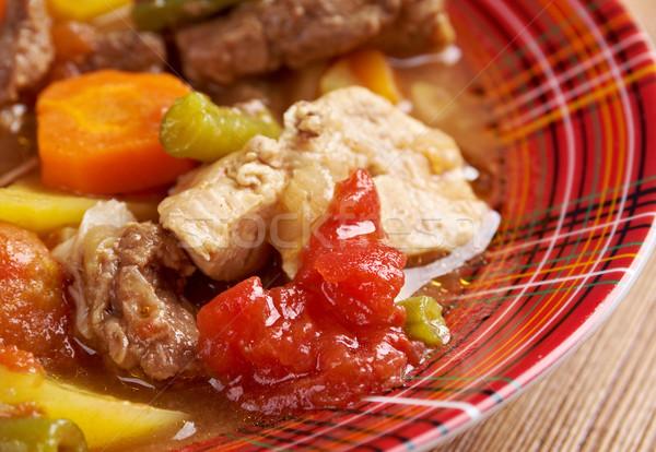 Ragoût Wisconsin plat viande fraîches repas Photo stock © fanfo