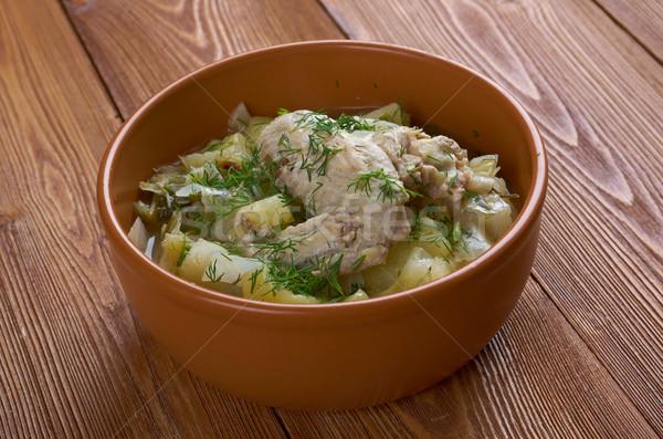 ирландский куриные тушеное мясо капуста картофель морковь Сток-фото © fanfo