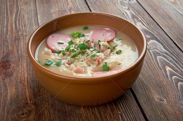 Aardappelsoep soep worst Duitsland smakelijk keuken Stockfoto © fanfo