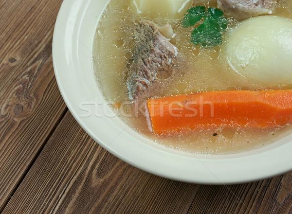 Bulion boczek wołowiny kapusta tradycyjny Zdjęcia stock © fanfo