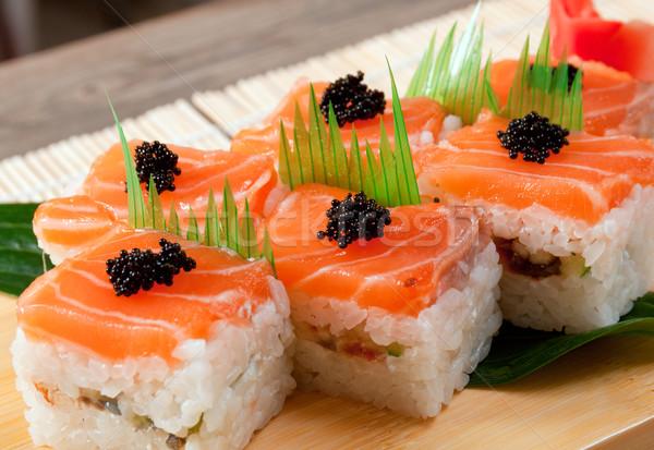 Japán szusi hagyományos hal tenger étterem Stock fotó © fanfo