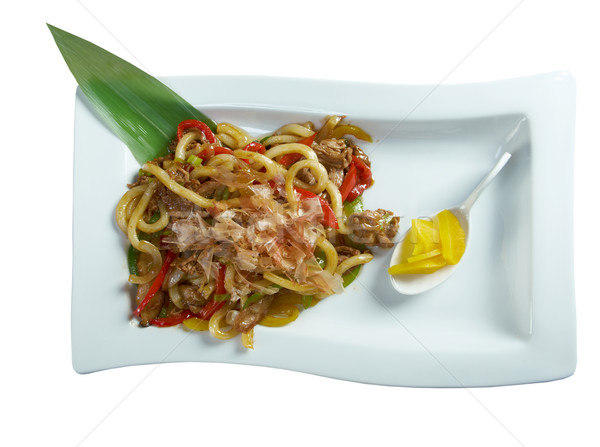 udon with meat and vegetables Stock photo © fanfo