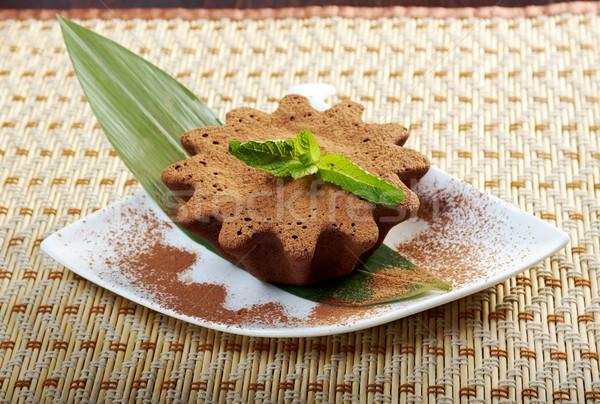 chocolate fudge brownie Stock photo © fanfo