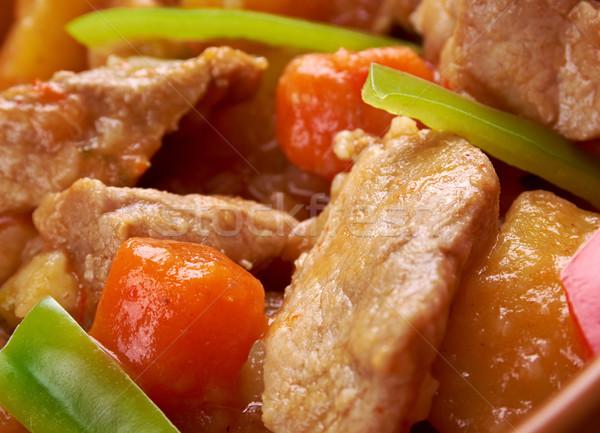 Carne popular prato Filipinas ilha molho de tomate Foto stock © fanfo