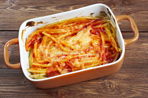 マカロニ チーズ トマト 赤 食べ ランチ ストックフォト © fanfo