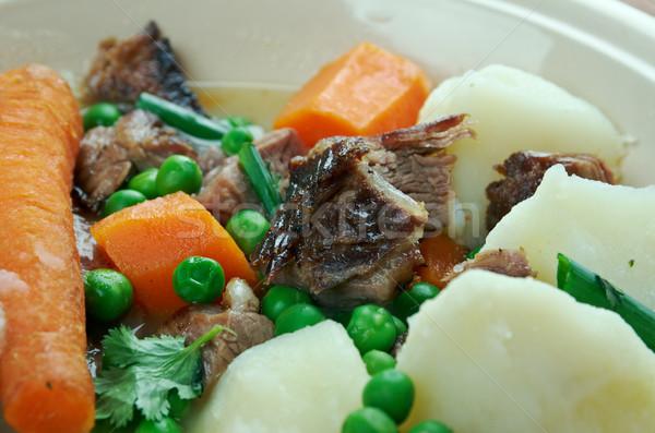 французский тушеное мясо ягненка баранина зеленый мяса Сток-фото © fanfo