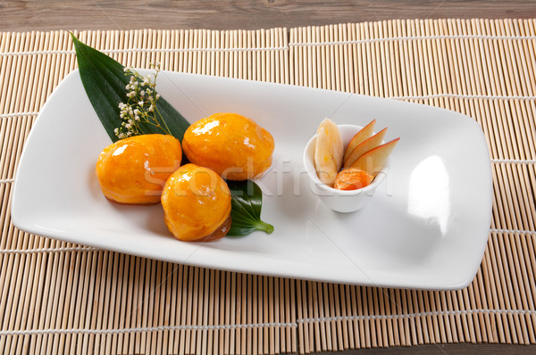 Japán desszert gyümölcs hagyományos étel csokoládé Stock fotó © fanfo