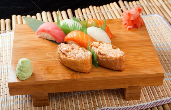 Ayarlamak Japon sushi geleneksel japon gıda balık Stok fotoğraf © fanfo