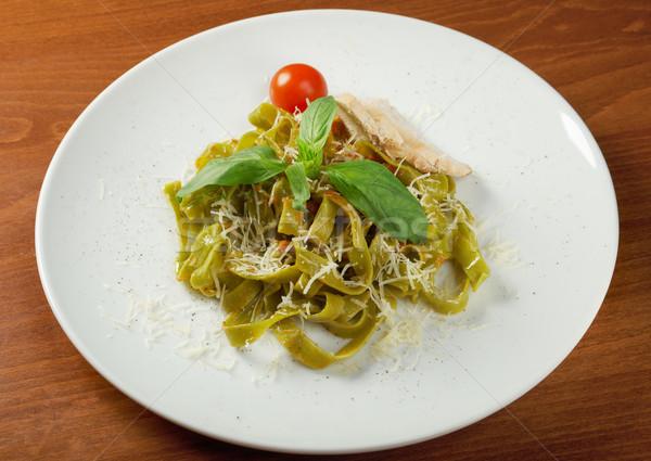 パスタ タリアテーレ ペスト ソース バジル 食品 ストックフォト © fanfo