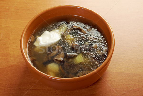 home made mushroom soup Stock photo © fanfo