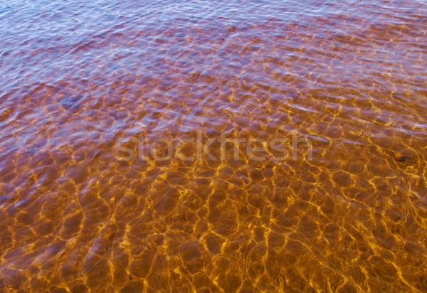 Fiume poco profondo abstract subacquea pattern Foto d'archivio © fanfo