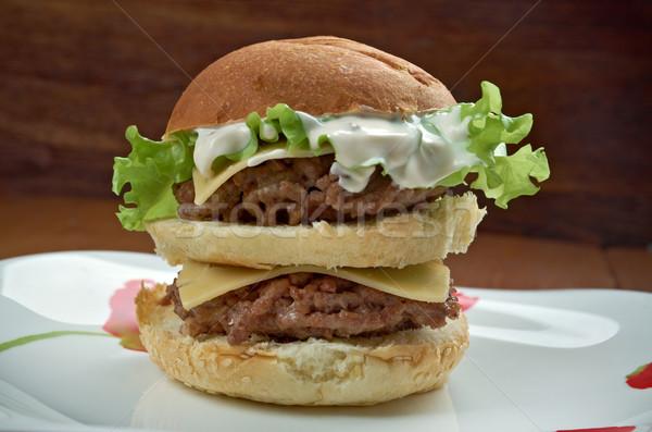 ボーナス アメリカン ハンバーガー ハンバーガー レストラン ストックフォト © fanfo