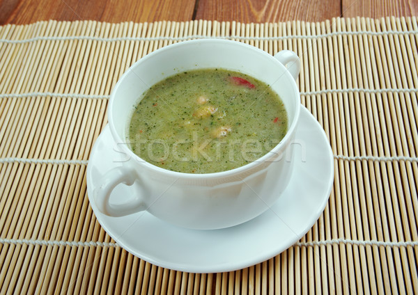 Broad Bean And Bacon Soup Stock photo © fanfo