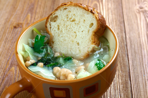 Híres toszkán leves kenyér zöldségek étel Stock fotó © fanfo