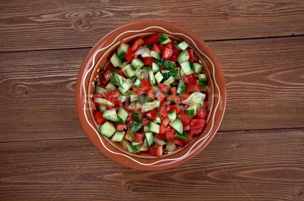 Arab saláta étel zöld ázsiai szakács Stock fotó © fanfo