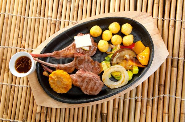 Japán fölösleges borda tányér konyha étel Stock fotó © fanfo