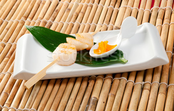 Japanese Skewered Scallop Stock photo © fanfo