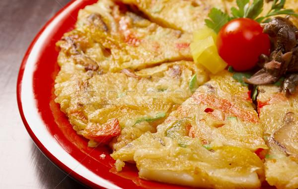 Cibo giapponese primo piano pizza formaggio pranzo veloce Foto d'archivio © fanfo