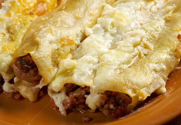 Foto stock: Carne · de · vacuno · pasta · comida · nadie · cocina