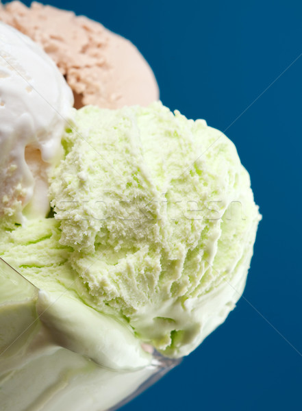 ice cream in a glass vase. closeup Stock photo © fanfo