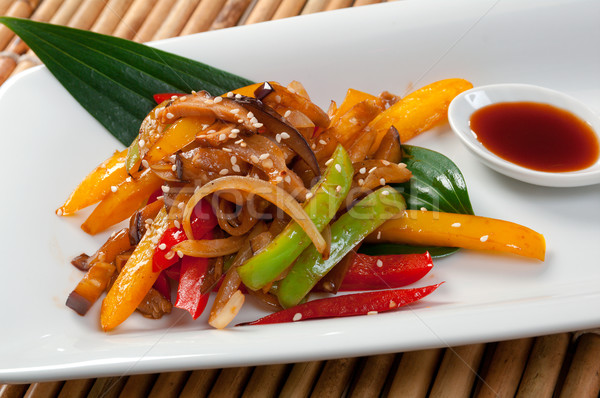 Japanese Stir Fried Vegetables Stock photo © fanfo
