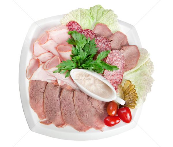 食品 肉 ソーセージ アレンジメント イタリア語 ストックフォト © fanfo