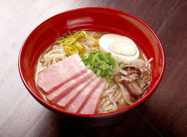 japanese ham noodles  Stock photo © fanfo