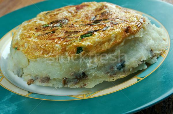 スペイン語 トルティーヤ 新鮮な 自家製 食品 卵 ストックフォト © fanfo