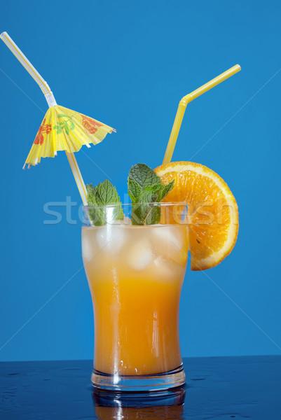 Stok fotoğraf: Mojito · turuncu · kokteyl · gözlük · yeşil · limon