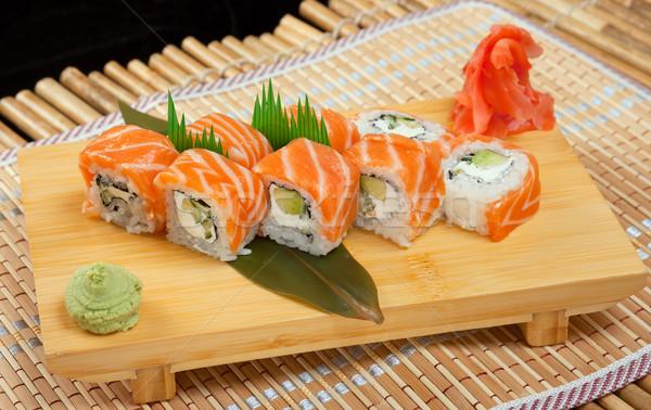 Japon sushi geleneksel japon gıda rulo balık Stok fotoğraf © fanfo