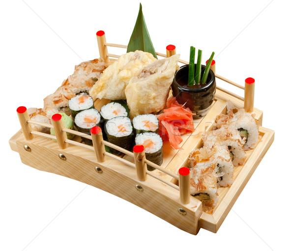 Sushi cibo giapponese tradizionale japanese affumicato pesce Foto d'archivio © fanfo